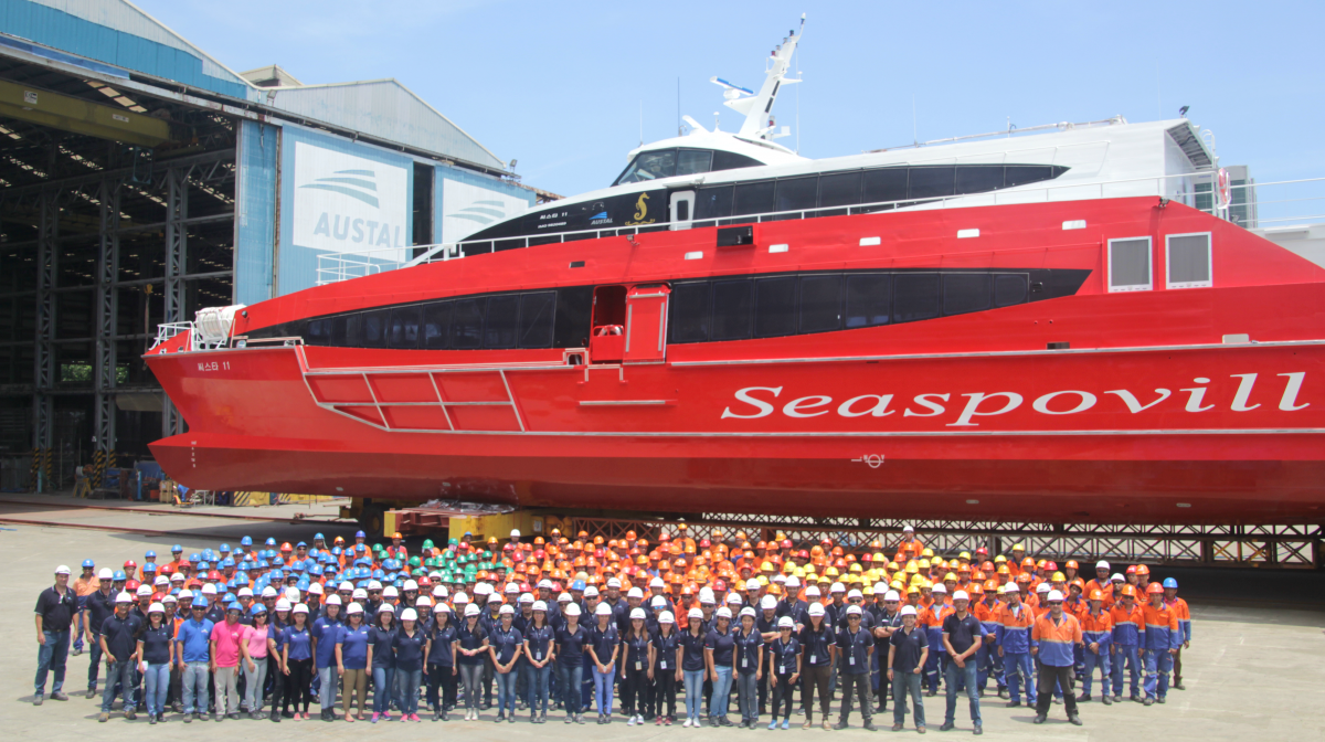AUSTAL LAUNCHES 50 METRE HIGH SPEED PASSENGER FERRY IN PHILIPPINES